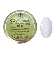 База для гель-лака Milano Cover Rubber Base Gel Luxury  № 02, 30 мл