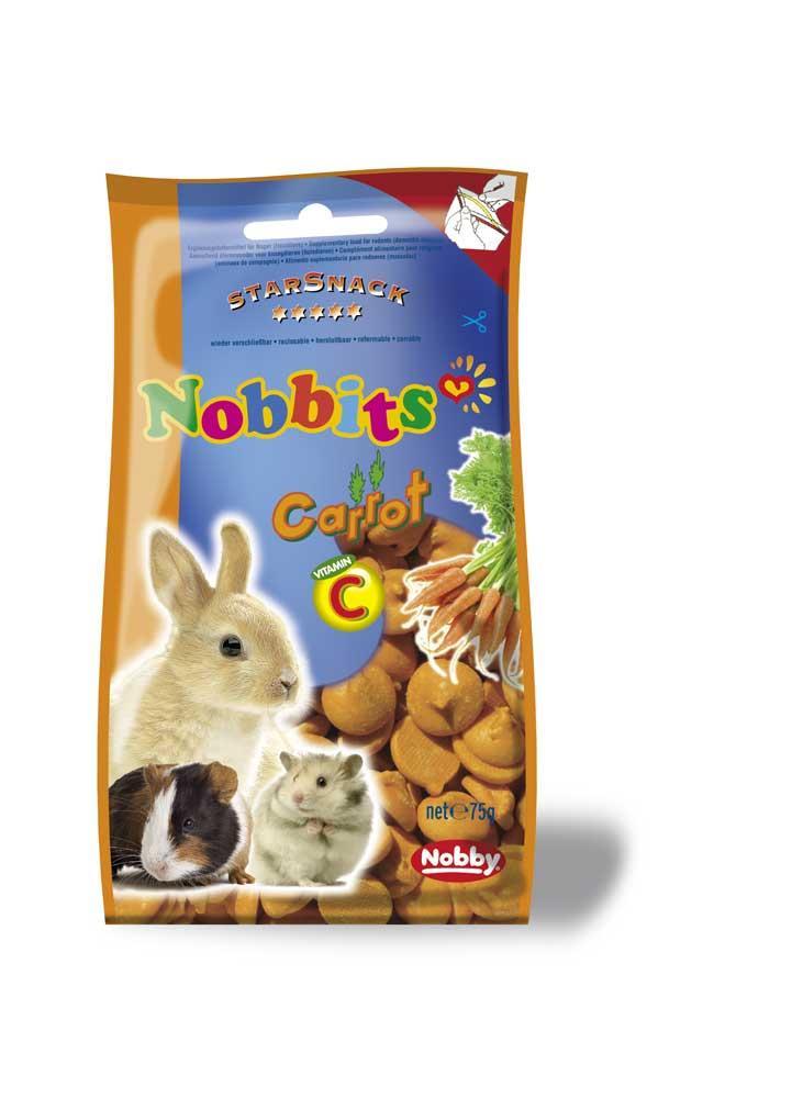 Дропсы для грызунов морковь 75г, Nobby