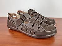 Туфли мужские летние коричневые прошитые ( код 1812 ), фото 1