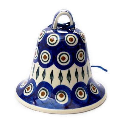Колокольчик большой керамический Перо Павлина, фото 2