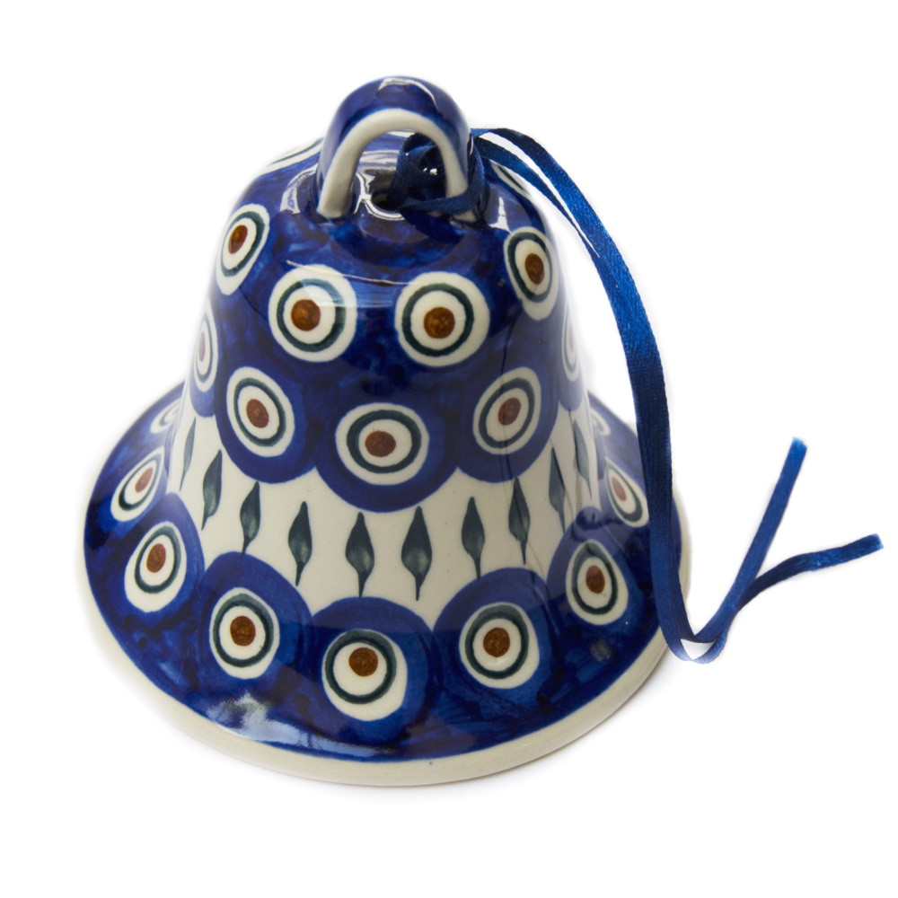 Колокольчик большой керамический Перо Павлина