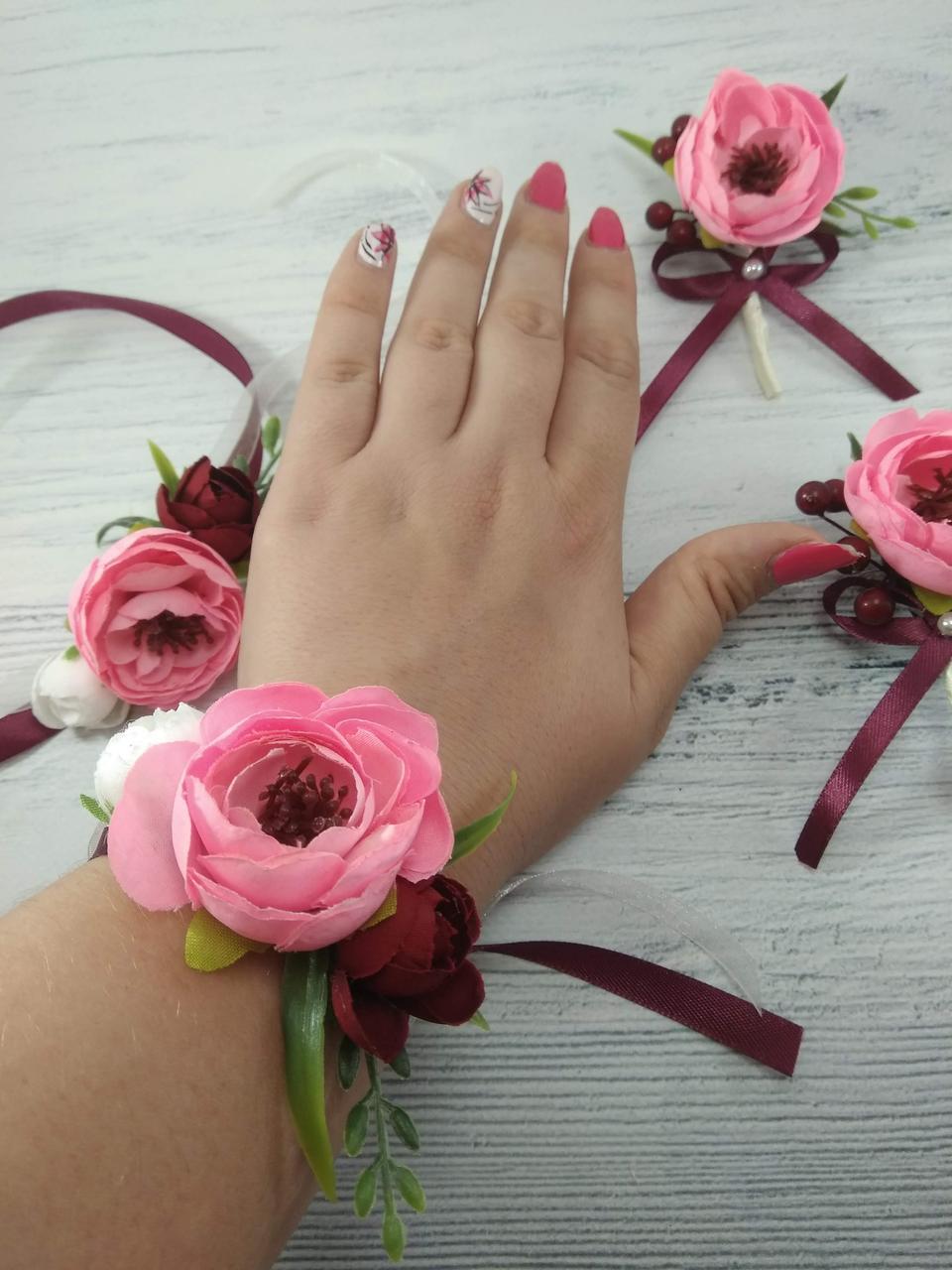 Набор бутоньерок Нежность розовая