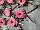 Набор бутоньерок Нежность розовая, фото 2