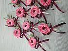 Набор бутоньерок Нежность розовая, фото 3