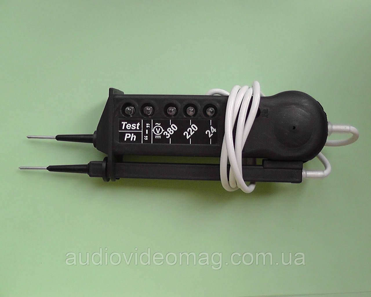Тестер-прозвонка, указатель напряжения 24-380V, свето-звуковой