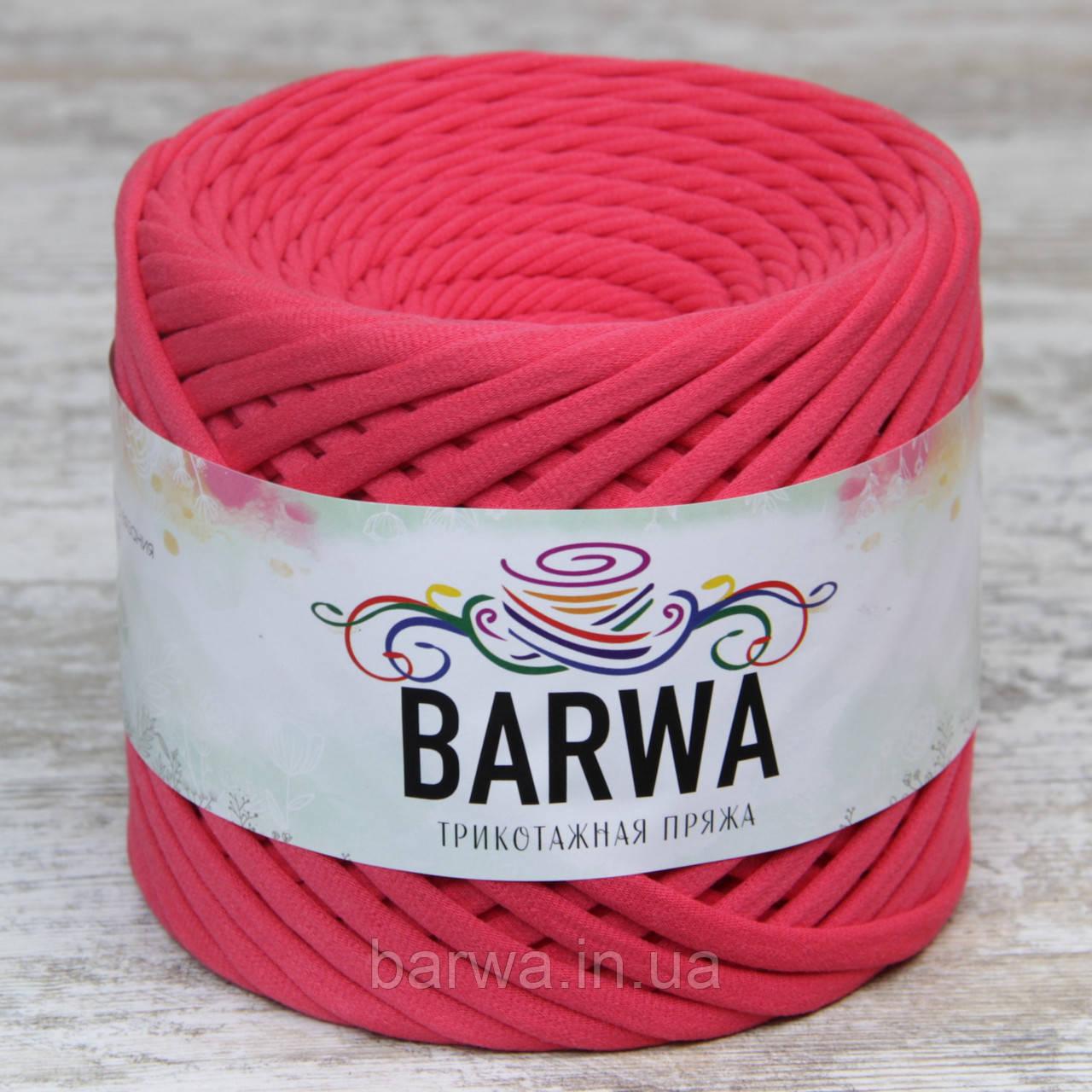 Трикотажная пряжа BARWA standart 7-9 мм, цвет Живой коралл