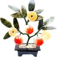 """Дерево каменное """"3 персика и 3 монеты"""""""
