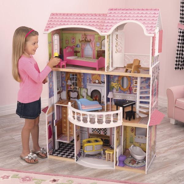 Большой деревянный Кукольный домик Magnolia KidKraft 65839