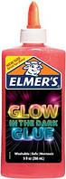 Elmers клей для слаймов слайм светящийся в темноте 266 мл   electrifying glow liquid glue