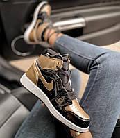 Женские кроссовки  Nike Air Jordan 1 Retro High Gold