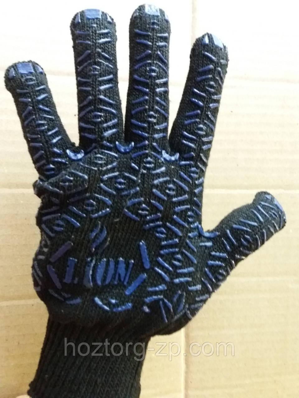 Перчатки трикотажные с ПВХ точкой, 10 класс