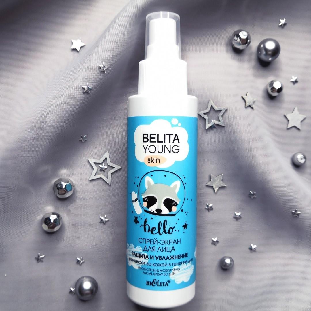 Спрей-экран для ухода за лицом в течении дня Bielita Belita Young Skin Защита и Увлажнение 115 мл