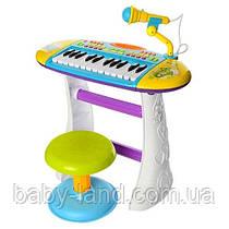 """Детский синтезатор - пианино """"Юный виртуоз"""" Limo Toy СИНИЙ арт. 383"""