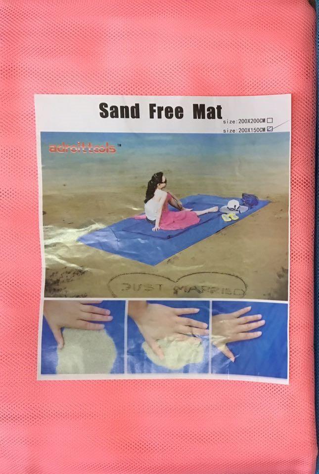 Покрывало пляжное анти песок Sand Free Mat 2х1,5 м