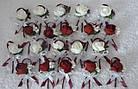 Бутоньерки свадебные в любом цвете с пионом, фото 5