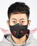 Респіратор | маска KN95 від вірусів, гару, пилу для тривалого носіння зі змінним вугільним фільтром, фото 3