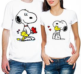 """Парные футболки """"Снупи"""" (частичная, или полная предоплата)"""