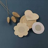 Невидимые наклейки на грудь, наклейки бежевые на соски ( 5 пар)
