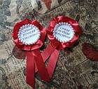 Ордена, медальки с надписями на свадьбу Крестный Крестная, фото 3
