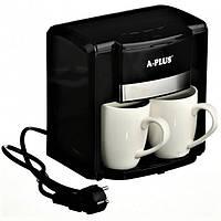 Электрическая капельная кофеварка, кофемашина 2 чашки 1549 А-Плюс