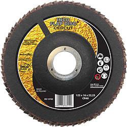 Круг шліфувальний пелюстковий 125х22,23мм, керамічний, CRP40, CERCUT-RED, IncoFlex (10)