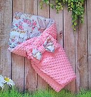 """Конверт-одеяло на выписку """"Минки"""", конверт на выписку для девочки"""