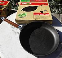Сковорода чугунная Биол 26 см, высота - 6,6 см