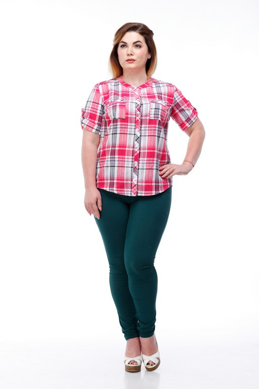 Легкая летняя рубашка на лето женская большие размеры , размер от 42 до 56