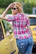 Легкая летняя рубашка на лето женская большие размеры , размер от 42 до 56, фото 2