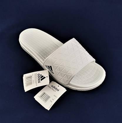 Мужские Шлёпанцы Тапочки ADIDAS Сланцы Адидас Белые (размеры: 43,44,45), фото 3