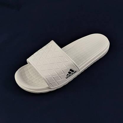 Мужские Шлёпанцы Тапочки ADIDAS Сланцы Адидас Белые (размеры: 43,44,45), фото 2