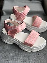 Спортивные розовые сандалии, босоножки на платформе