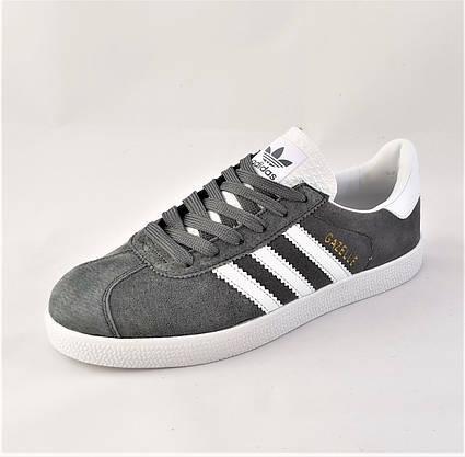 Кроссовки Adidas Gazelle Серые Мужские Адидас (размеры: 41) Видео Обзор, фото 2