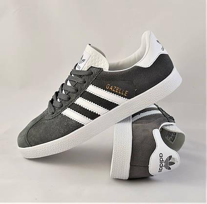 Кроссовки Adidas Gazelle Серые Мужские Адидас (размеры: 41) Видео Обзор, фото 3