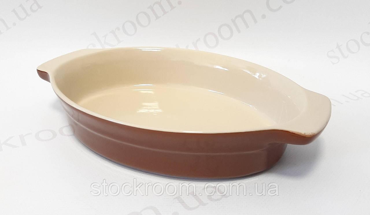 Форма для выпечки керамическая  овальная ~ 2400 мл Krauff