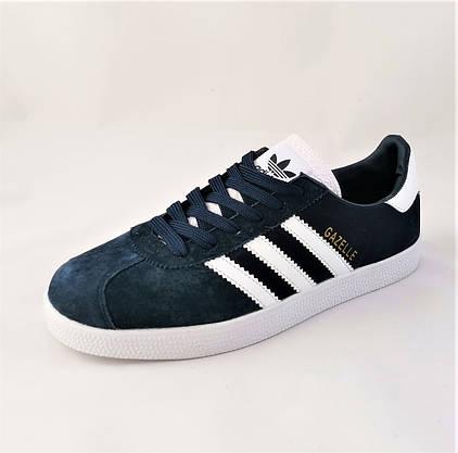 Кроссовки Adidas Gazelle Синие Мужские Адидас (размеры: 41,42,43,45) Видео Обзор, фото 3