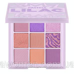 Тени для век HUDA BEAUTY Pastel Obsessions Palette LILAC (9 цветов) люкс