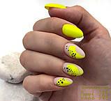 Гель-лак Oxxi professional (10 мл) №241 (неоновый желтый, эмаль), фото 4