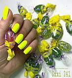 Гель-лак Oxxi professional (10 мл) №241 (неоновый желтый, эмаль), фото 5
