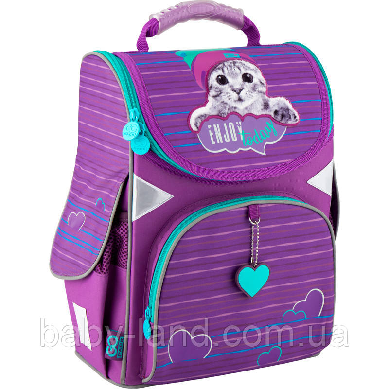 Ранець шкільний ортопедичний GoPack Funny cat Kite GO20-5001S-5