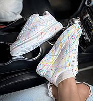 Кроссовки Alexander McQUEEN Painted белые