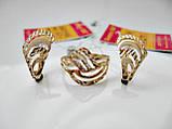 Золотые Серьги Геометрических форм с фианитами от 1299 гривен за 1 грамм Золота 585 пробы, фото 9