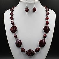 Ожерелье и серьги из камней БижуМир