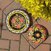 Керамическая тарелка с крышкой d 24 см. Риштан, Узбекистан (3)
