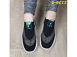 Кроссовки слипоны черные текстильные на амортизаторах силиконовых 38 р. (2136-6), фото 3