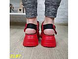 Босоножки красные на высокой тракторной платформе натуральная кожа 37, 38, 39, 40 р. (2187), фото 4