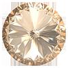 Пришивные риволи в цапах Preciosa (Чехия) 18 мм Crystal Honey/серебро