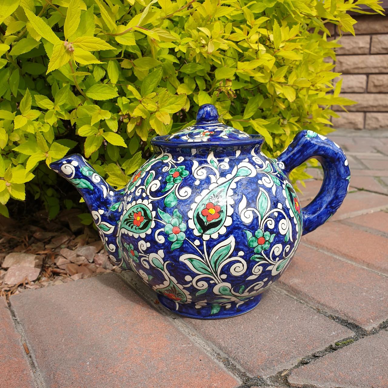 Чайник заварочный ~1000 ml ручной работы. Узбекистан (18)
