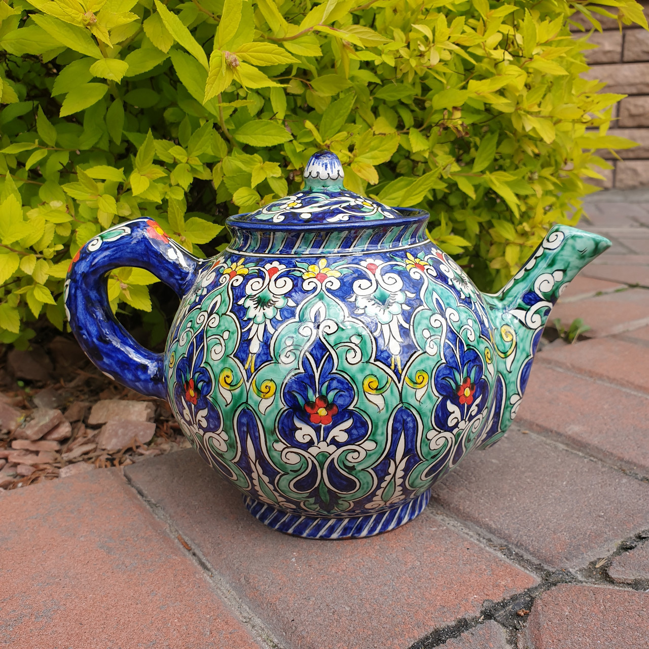 Чайник заварочный ~1000 ml ручной работы. Узбекистан (19)