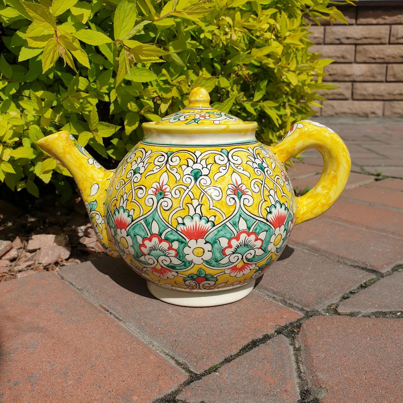 Чайник заварочный ~1000 ml ручной работы. Узбекистан (21)
